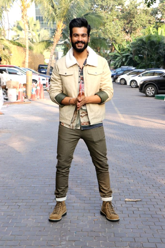 """Actor Sunny Kaushal during the promotions of his upcoming film """"The Forgotten Army"""" in Mumbai on Jan 8, 2020. - Sunny Kaushal"""