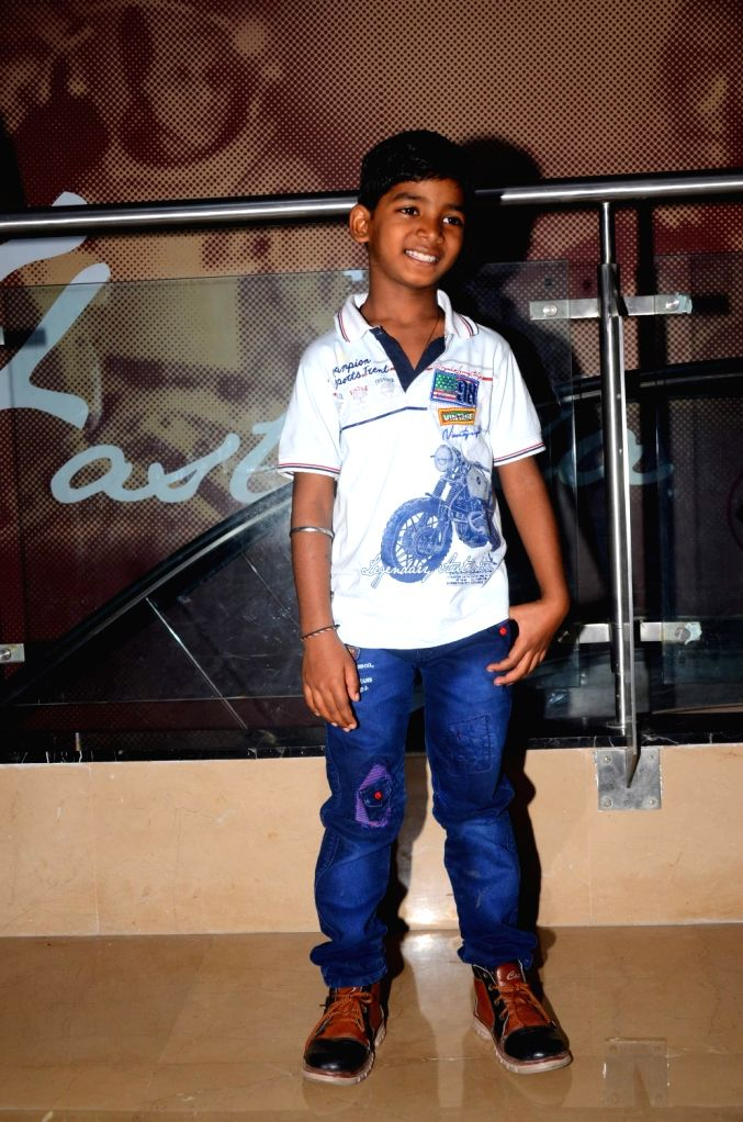 """Actor Sunny Pawar during the special screening of film """"Lion"""" in Mumbai on March 11, 2017. - Sunny Pawar"""