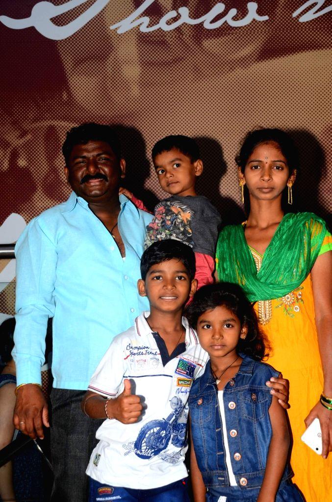 "Actor Sunny Pawar with his father Dilip Pawar, brother Jignesh Pawar, mother Vasu Pawar and sister Divisha Pawar during the special screening of film ""Lion"" in Mumbai on March 11, ... - Sunny Pawar"