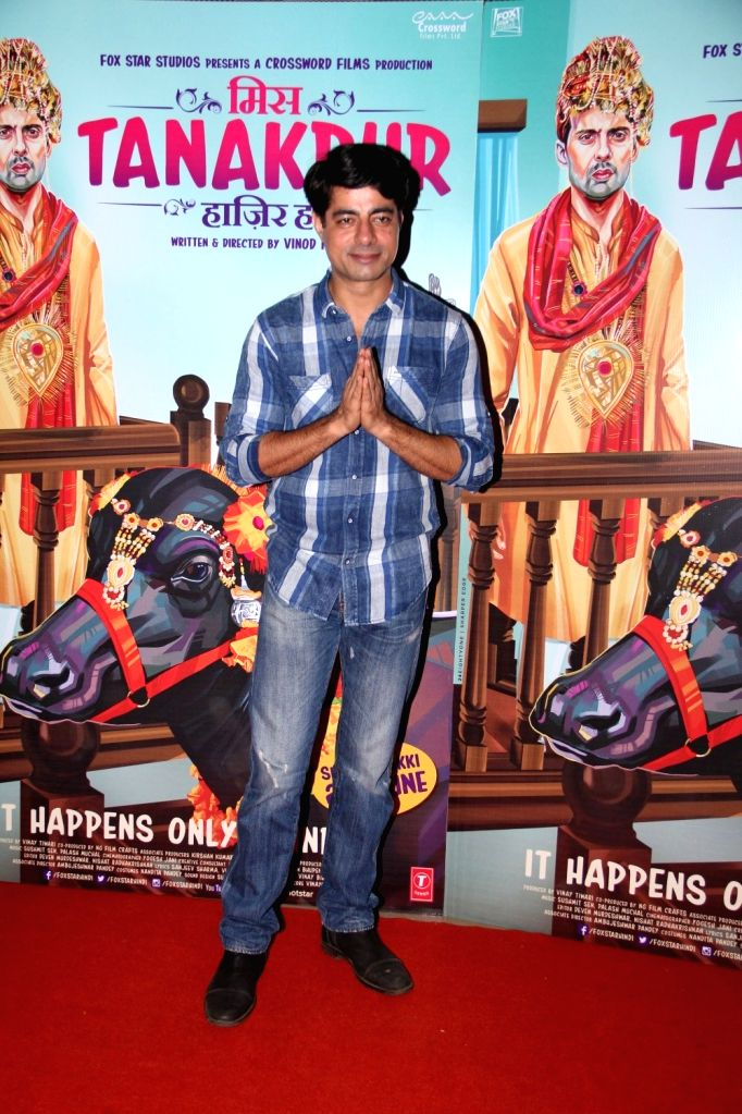 Actor Sushant Singh during the special screening of film Miss Tanakpur Haazir Ho in Mumbai on June 25, 2015. - Sushant Singh