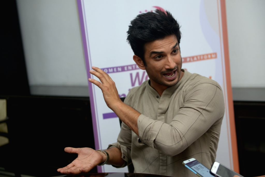 Actor Sushant Singh Rajput addresses during a programme organised to promote the Women Entreprenuership Platform (WEP) of NITI Aayog in New Delhi on May 25, 2018. - Sushant Singh Rajput