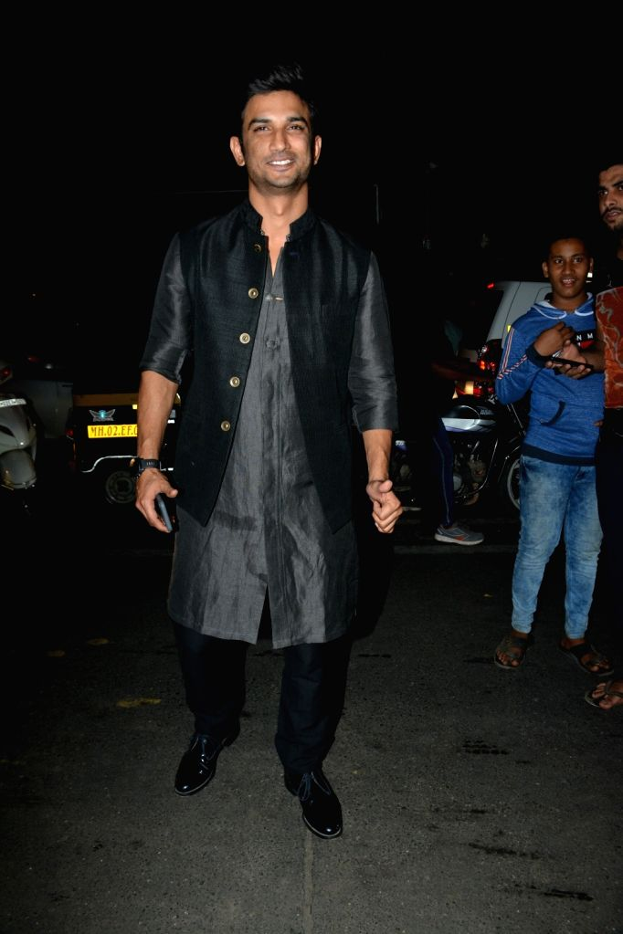 Actor Sushant Singh Rajput at celebrity trainer Namrata Purohit's song launch in Mumbai, on Feb 19, 2019. - Sushant Singh Rajput