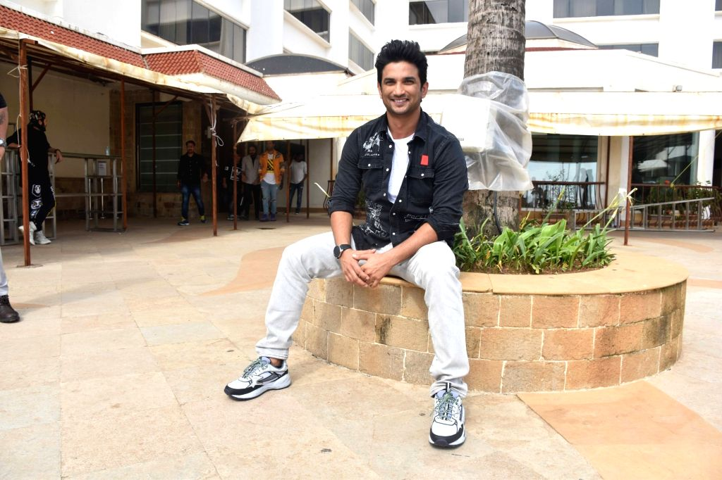 """Actor Sushant Singh Rajput at the promotion of upcoming film """"Chhichhore"""" in Mumbai on Aug 25, 2019. - Sushant Singh Rajput"""