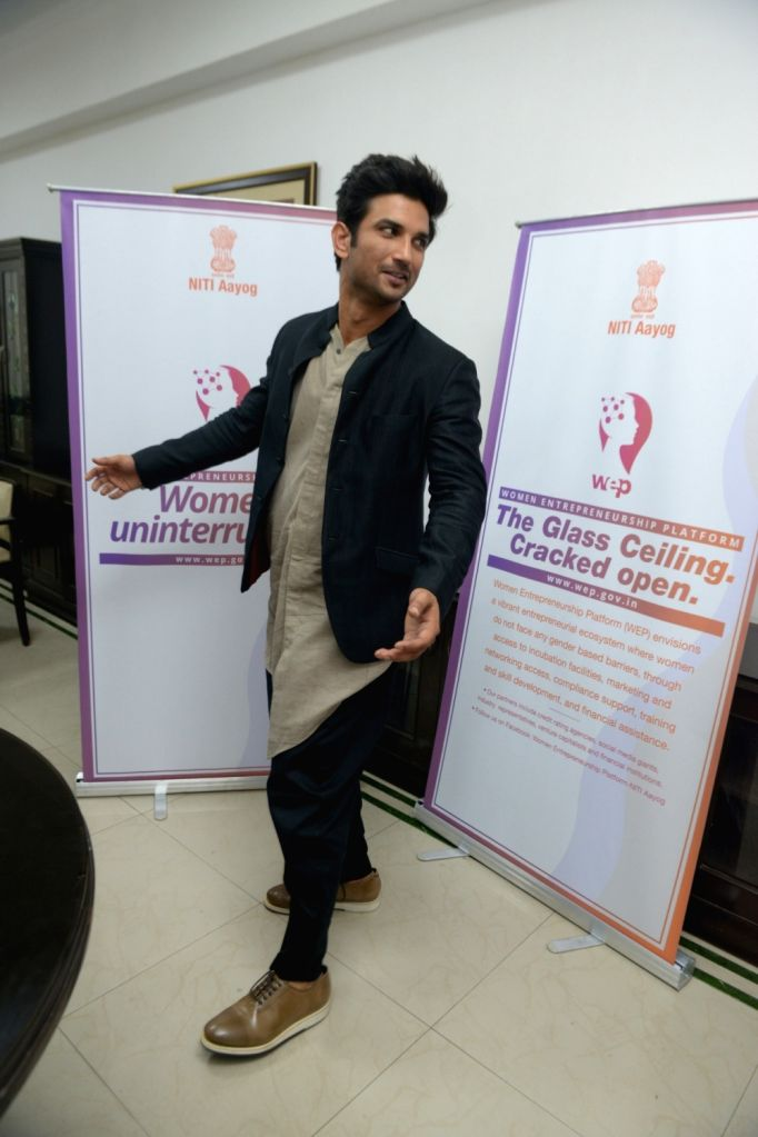 Actor Sushant Singh Rajput during a programme organised to promote the Women Entreprenuership Platform (WEP) of NITI Aayog in New Delhi on May 25, 2018. - Sushant Singh Rajput