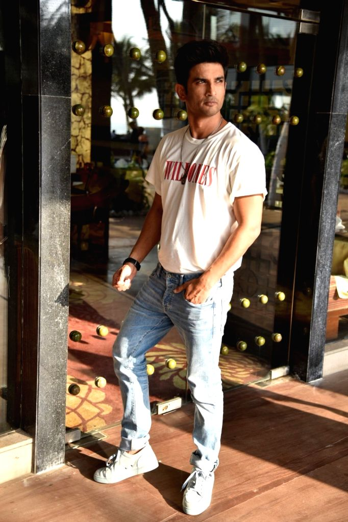"""Actor Sushant Singh Rajput during a programme organsied to promote his upcoming film """"Sonchiriya"""" in Mumbai on Feb 20, 2019. - Sushant Singh Rajput"""