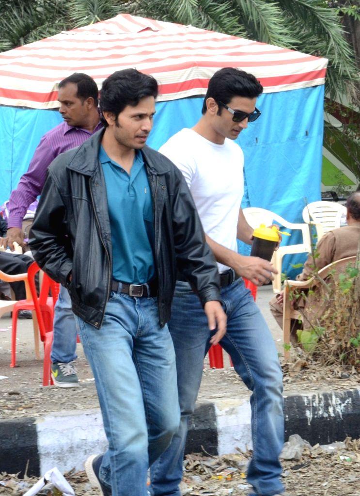 Actor Sushant Singh Rajput during shooting of his upcoming film in Kolkata, on Dec 22, 2015.