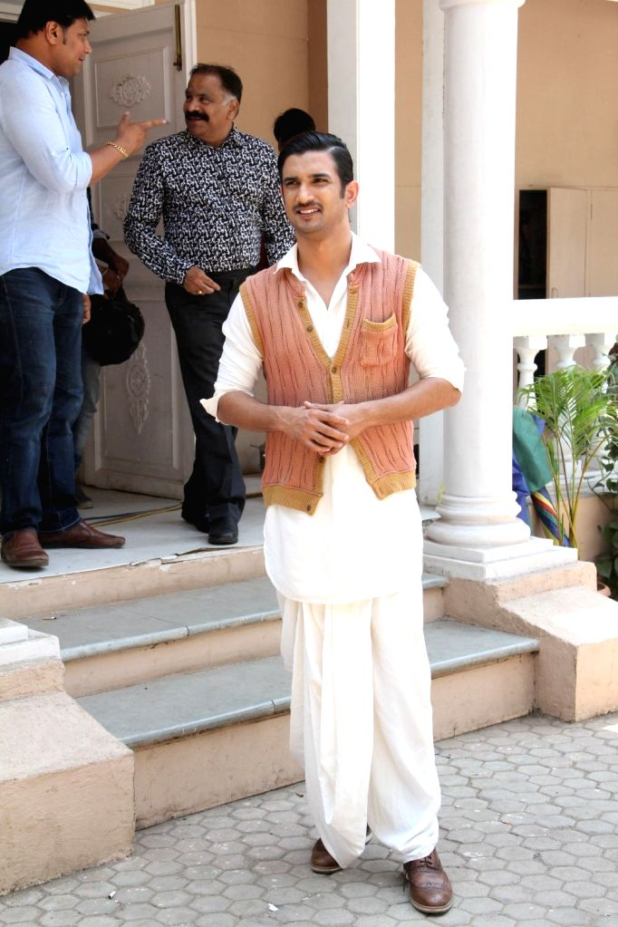Actor Sushant Singh Rajput during the promotion of the Film Detective Byomkesh Bakshy on the set of CID in Mumbai on March 30, 2015. - Sushant Singh Rajput