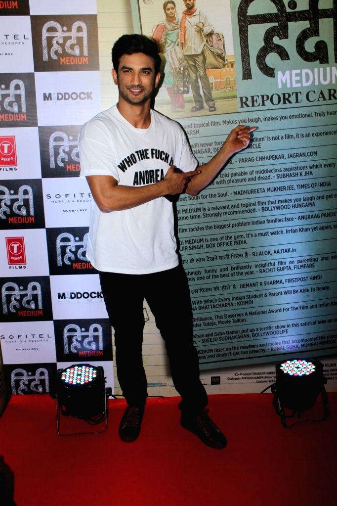 Actor Sushant Singh Rajput during the success party of film Hindi Medium in Mumbai on May 27, 2017. - Sushant Singh Rajput