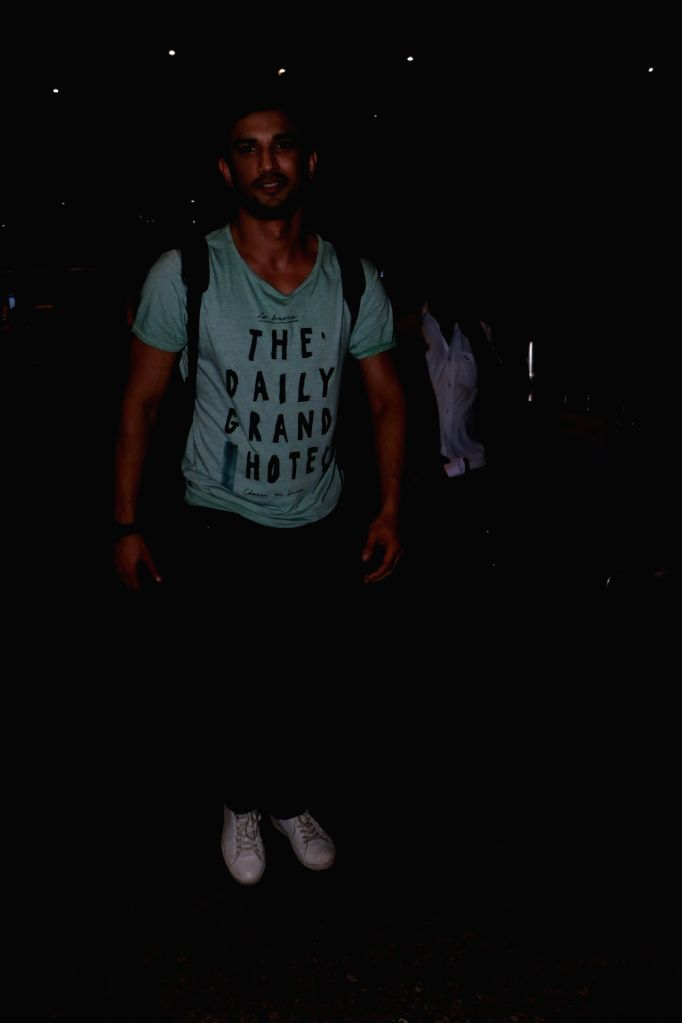 Actor Sushant Singh Rajput spotted at Airport in Mumbai, on June 20, 2017. - Sushant Singh Rajput