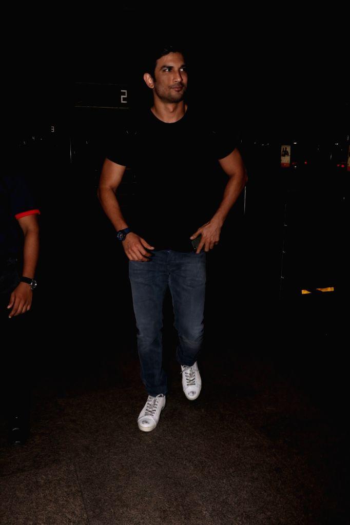 Actor Sushant Singh Rajput spotted at Chhatrapati Shivaji Maharaj International airport in Mumbai on Aug 9, 2017. - Sushant Singh Rajput