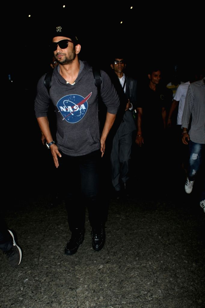 Actor Sushant Singh Rajput spotted at the Chhatrapati Shivaji International Airport in Mumbai, on July 25, 2017. - Sushant Singh Rajput