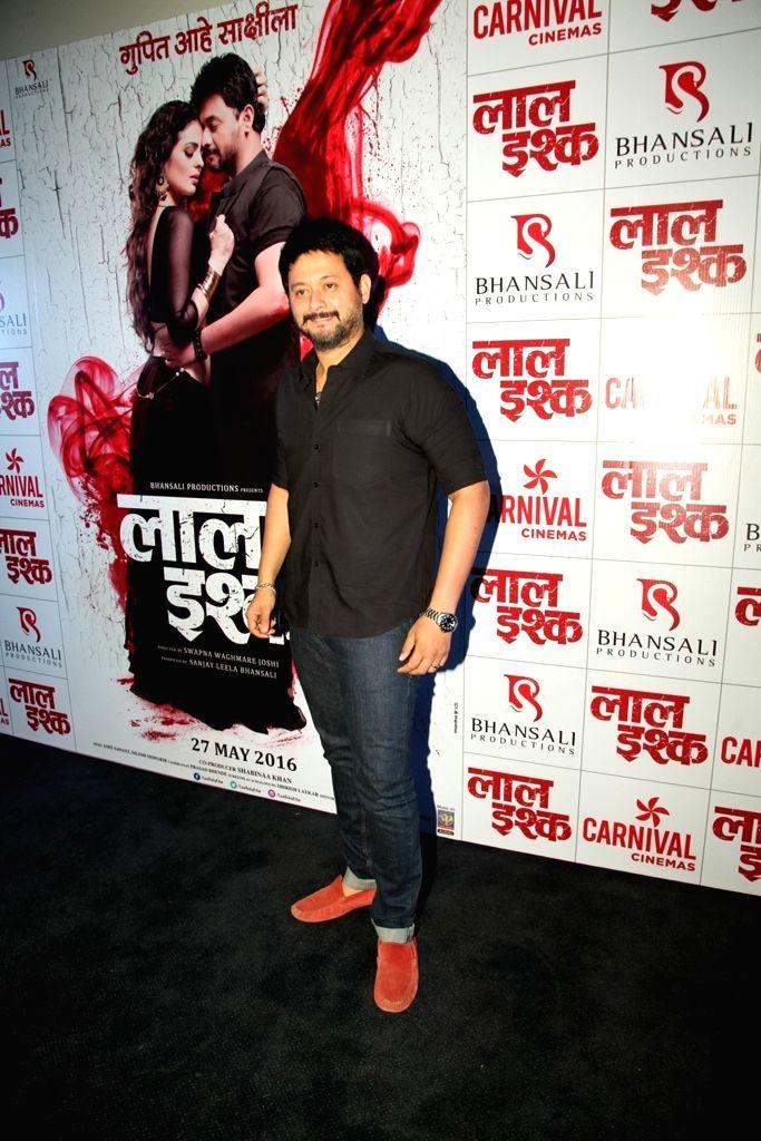 Actor Swapnil Joshi during the poster launch of Sanjay Leela Bhansali's Marathi film Laal Ishq in Mumbai on April 11, 2016. - Swapnil Joshi