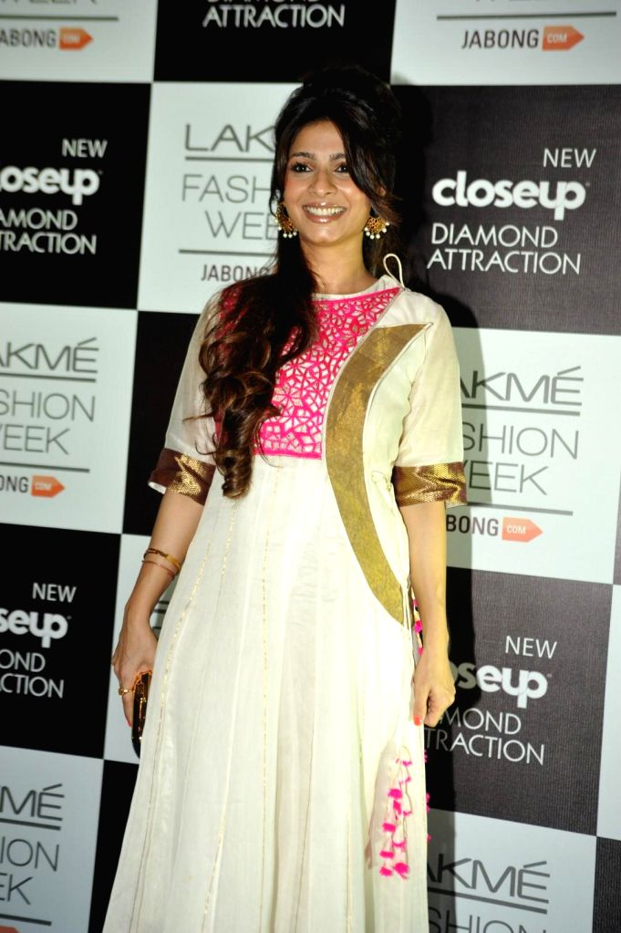 Actor Tanishaa Mukherjee during the Lakme Fashion Week (LFW) Winter/ Festive 2014 in Mumbai, on Aug. 21, 2014. - Tanishaa Mukherjee