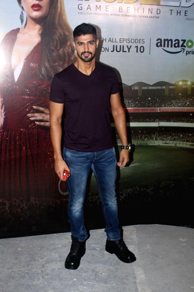 """Actor Tanuj Virwani during promotion of television series """"Inside Edge"""" in Mumbai on July 4, 2017. - Tanuj Virwani"""
