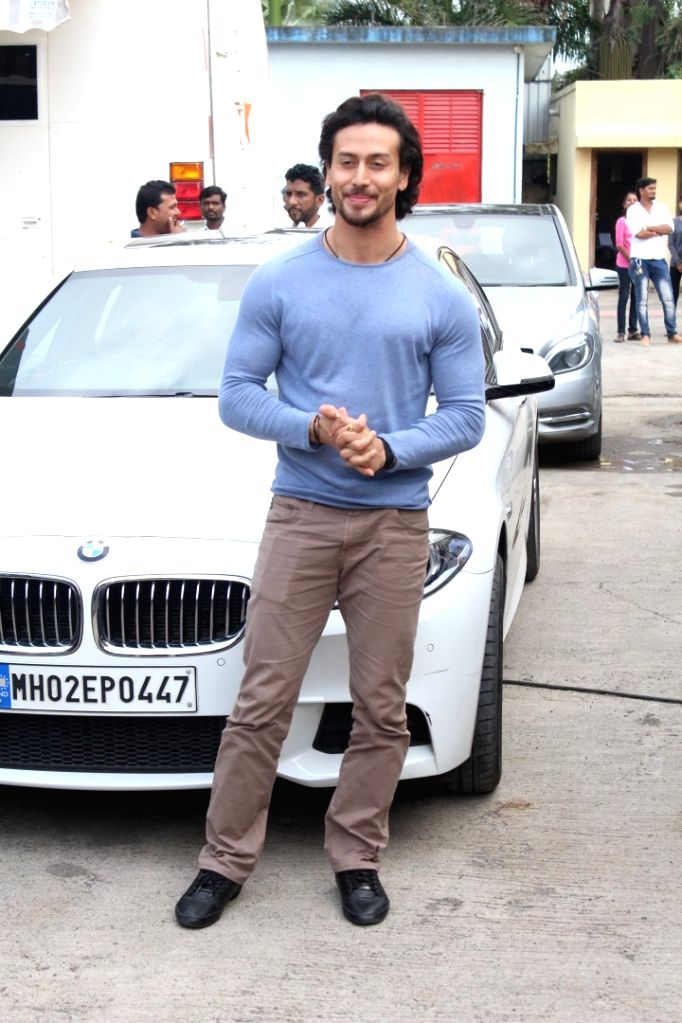 "Actor Tiger Shroff arrives on the sets of ""Sa Re Ga Ma Pa Li'l Champs Season 6"" to promote his upcoming film ""Munna Michael"" in Mumbai, on July 5, 2017. - Tiger Shroff"