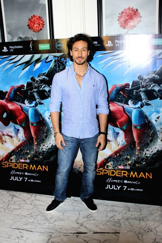 "Actor Tiger Shroff at the special screening of ""Spider-Man: Homecoming"" in Mumbai, on July 4, 2017. - Tiger Shroff"
