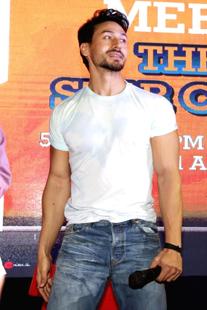 "Actor Tiger Shroff during a programme organised to promote his upcoming film ""Student of the Year 2"" in Uttar Pradesh's Noida, on May 5, 2019. - Tiger Shroff"