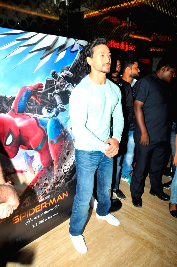 "Actor Tiger Shroff during a promotional programme  to promote film ""Spider-Man: Homecoming"" in Mumbai, on June 27, 2017. - Tiger Shroff"