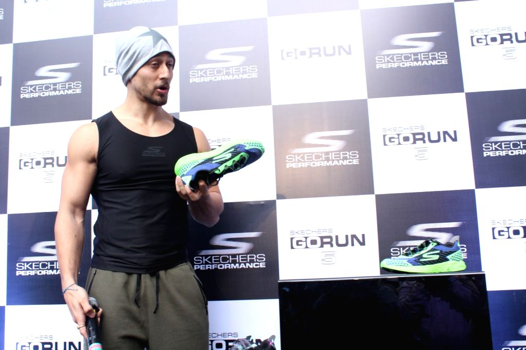 Actor Tiger Shroff during promotions of an athletic shoe brand in Mumbai, on Oct 6, 2017. - Tiger Shroff