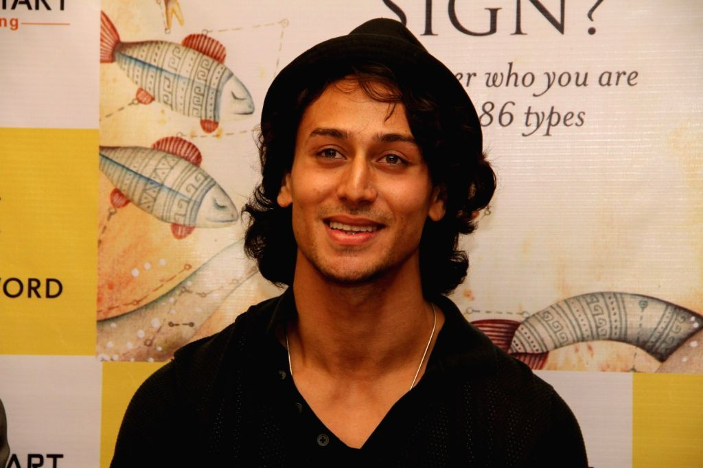 Actor Tiger Shroff during the launch of Greenstone Lobo`s book `What Is Your True Zodiac Sign`, in Mumbai, on Nov 2, 2015.