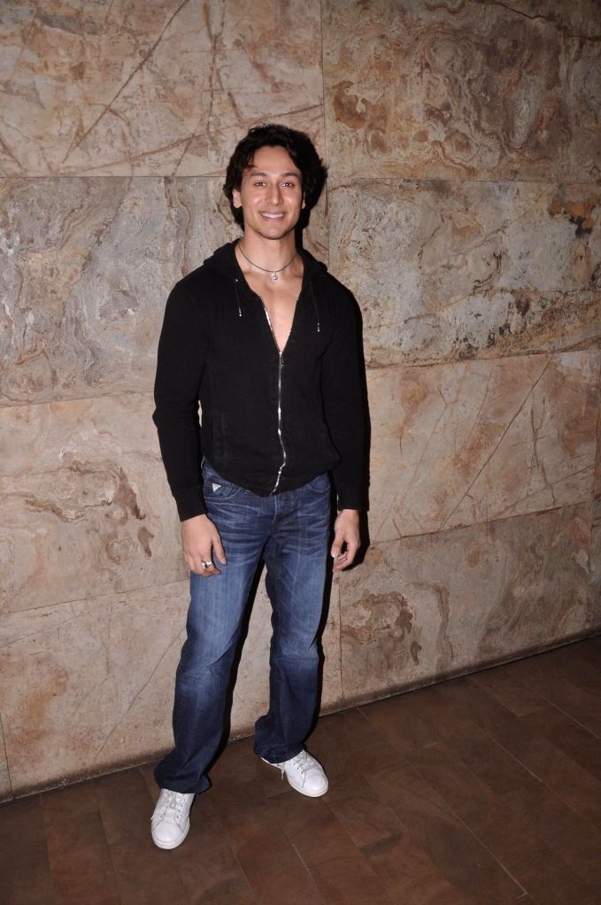 Actor Tiger Shroff during the launch of his dance video as a tribute to pop icon Michael Jackson on the occasion of Teacher`s Day in Mumbai, on Sept. 5, 2014.