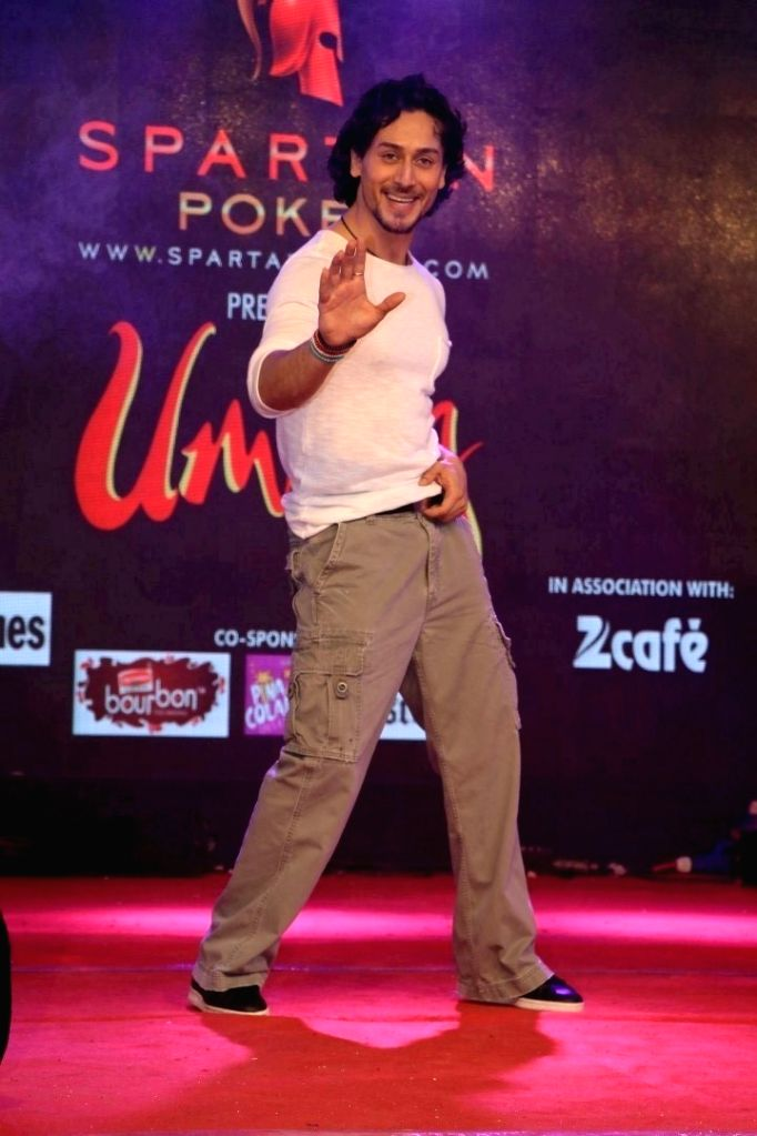 Actor Tiger Shroff during the promotion of film A Flying Jatt at the Umang collage festival in Mumbai, on Aug 15, 2016. - Tiger Shroff