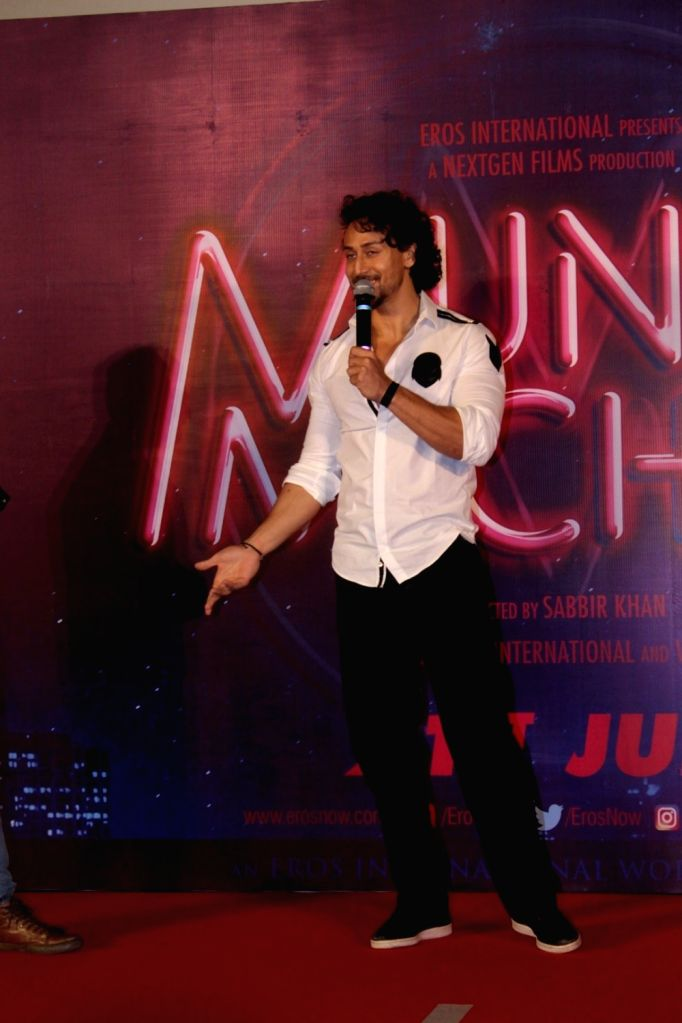 """Actor Tiger Shroff during the trailer launch of his upcoming film """"Munna Michael"""" in Mumbai, on June 4, 2017. - Tiger Shroff"""
