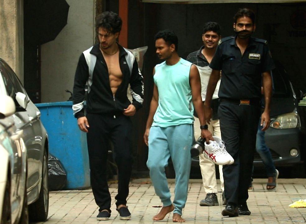 Actor Tiger Shroff seen at Andheri in Mumbai on Jan 8, 2021. - Tiger Shroff