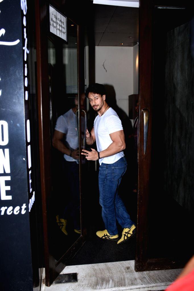 Actor Tiger Shroff seen at Bandra in Mumbai, on July 18, 2019. - Tiger Shroff