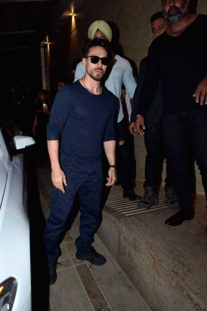 Actor Tiger Shroff seen at Juhu, in Mumbai on Jan 11, 2020. - Tiger Shroff