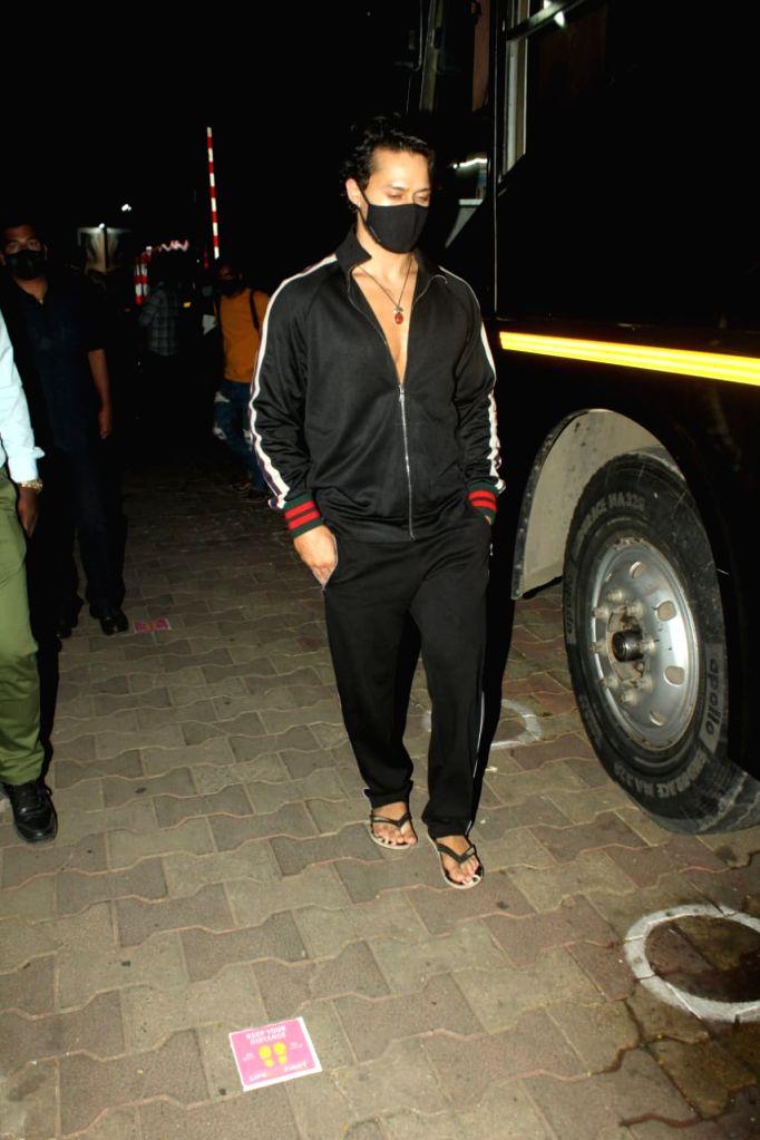 Actor Tiger Shroff seen during a shoot at Mumbai's Andheri on Dec 2, 2020. - Tiger Shroff