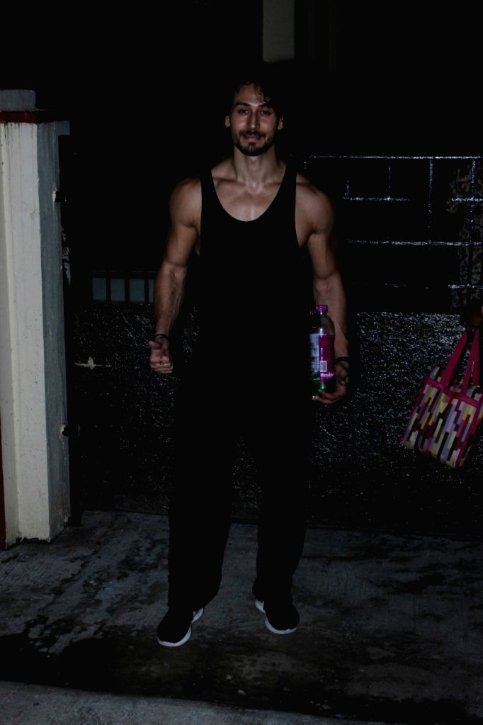 Actor Tiger Shroff spotted at Gym in Mumbai on June 21, 2017. - Tiger Shroff