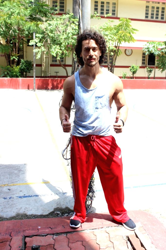 Actor Tiger Shroff spotted outisde a gym, in Mumbai on June 16, 2017. - Tiger Shroff