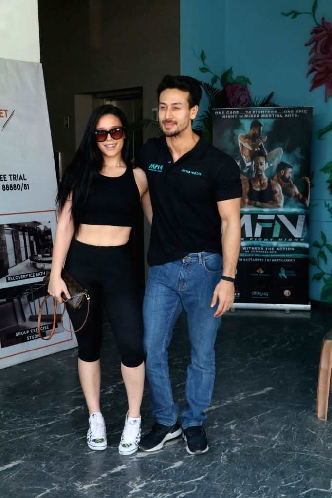 Actor Tiger Shroff with his sister Krishna Shroff at the launch of a Mixed Martial Arts fight night in Mumbai, on March 9, 2019. - Tiger Shroff