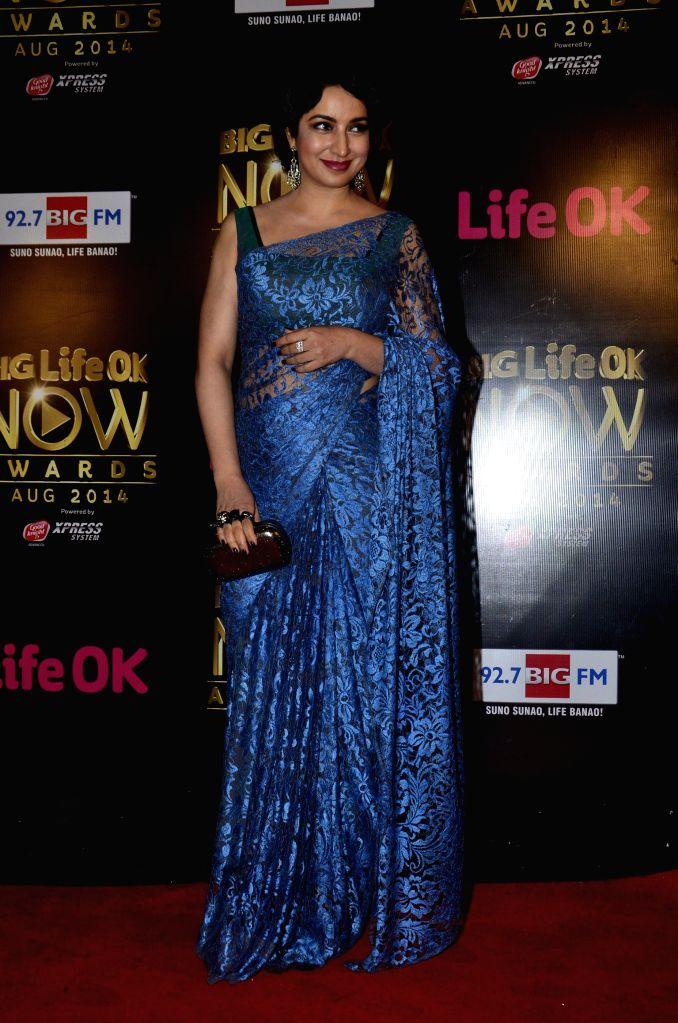 Actor Tisca Chopra during the Big Life Ok Now Awards in Mumbai, on August 3, 2014. - Tisca Chopra