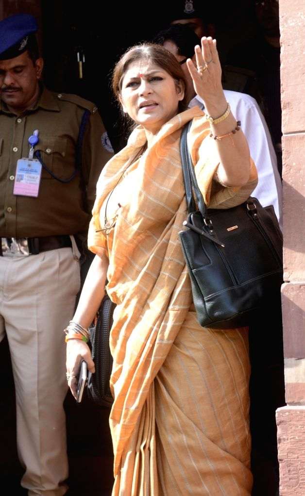 Actor-turned-BJP leader Roopa Ganguly at the Parliament on Nov 21, 2016.