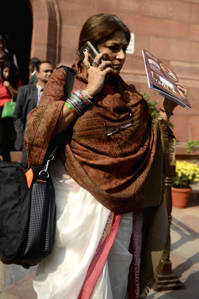 Actor-turned-BJP leader Roopa Ganguly at the Parliament in New Delhi on Nov 29, 2016.