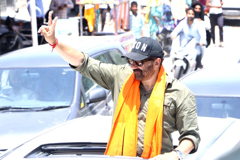 Actor-turned-politician BJP's candidate from Gurdaspur, Sunny Deol during an election campaign for the forthcoming Lok Sabha polls, in Punjab's Qadian, on May 5, 2019.