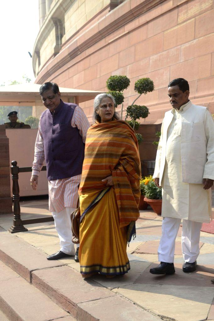 Actor-turned politician Jaya Bachchan at the Parliament in New Delhi on Nov. 17, 2016. - Jaya Bachchan