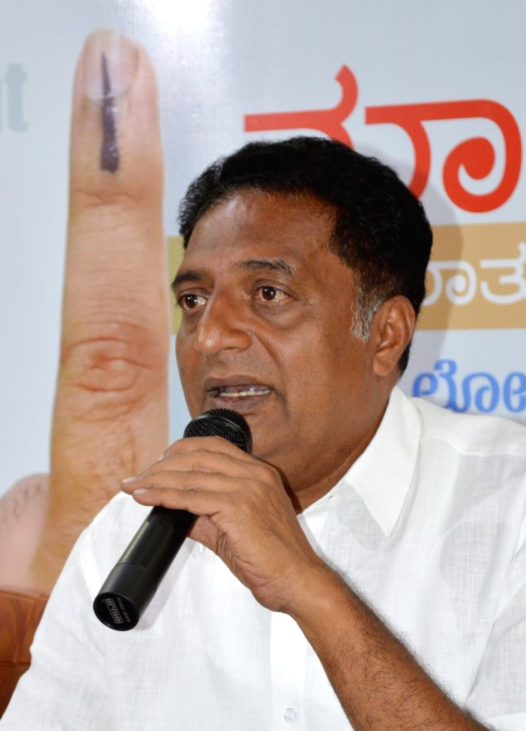 Actor-turned-politician Prakash Raj addresses during 'Meet the Press' programme in Bengaluru, on April 11, 2019.