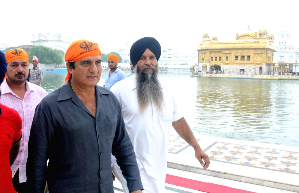 Actor turned politician Raj Babbar pays obeisance at the Golden Temple in Amritsar, on Aug 9, 2015.