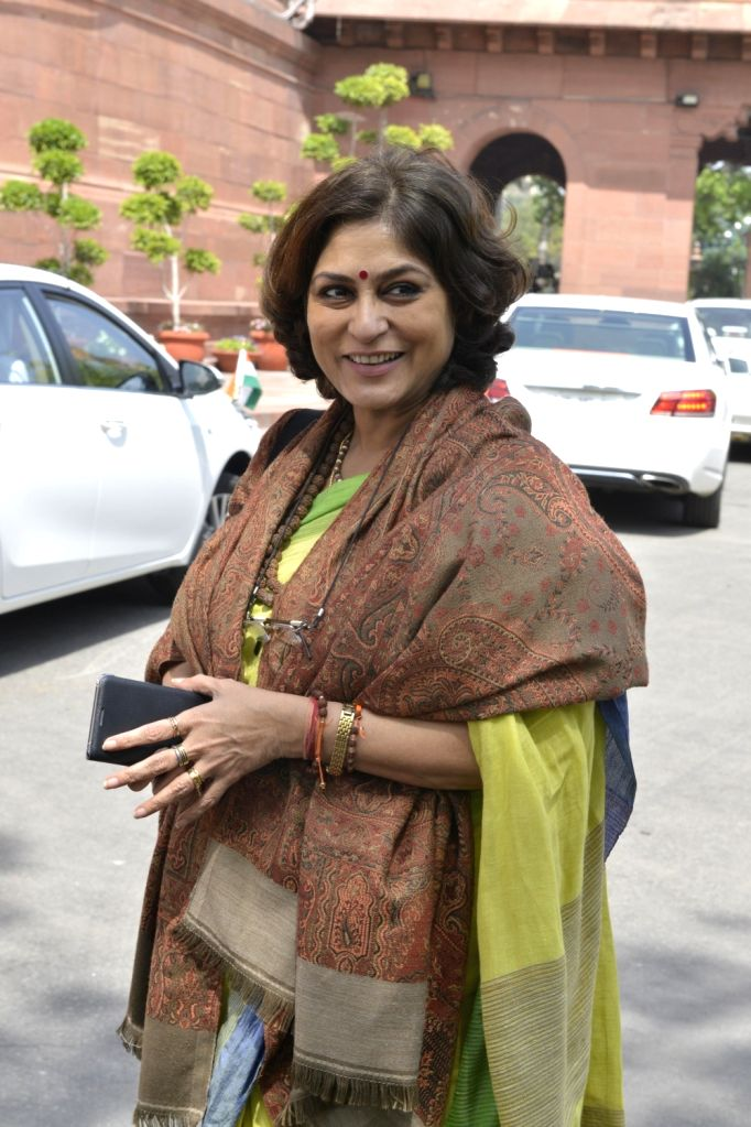 Actor-turned politician Roopa Ganguly at Parliament in New Delhi on Feb 15, 2017.