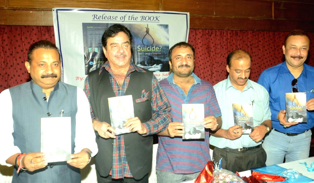 "Actor turned politician Shatrughan Sinha at the release of the book of ""Suicide"" in Patna on June 18, 2016. - Shatrughan Sinha"