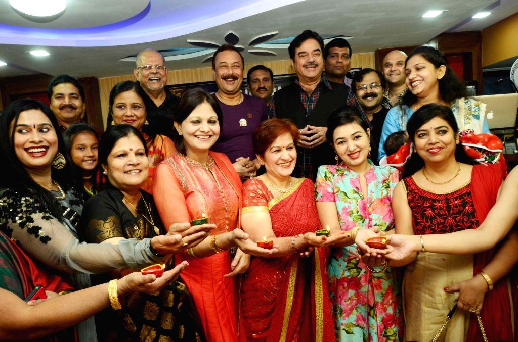 Actor-turned-politician Shatrughan Sinha during a diwali celebration programme in Patna on Oct 26, 2016. - Shatrughan Sinha