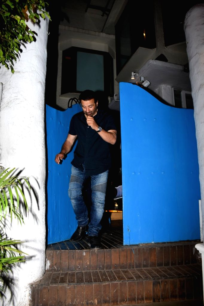 Actor-turned-politician Sunny Deol seen outside a restaurant in Mumbai, on May 26, 2019.