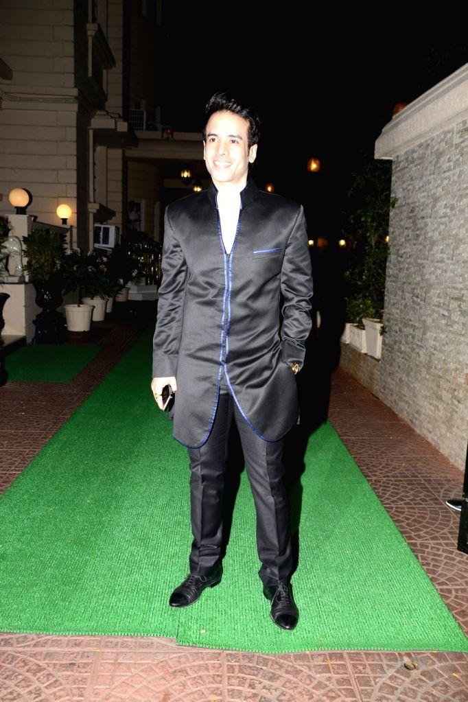 Actor Tusshar Kapoor arrives to attend Ekta Kapoor's Diwali party in Mumbai on Oct 29, 2016. - Tusshar Kapoor and Ekta Kapoor