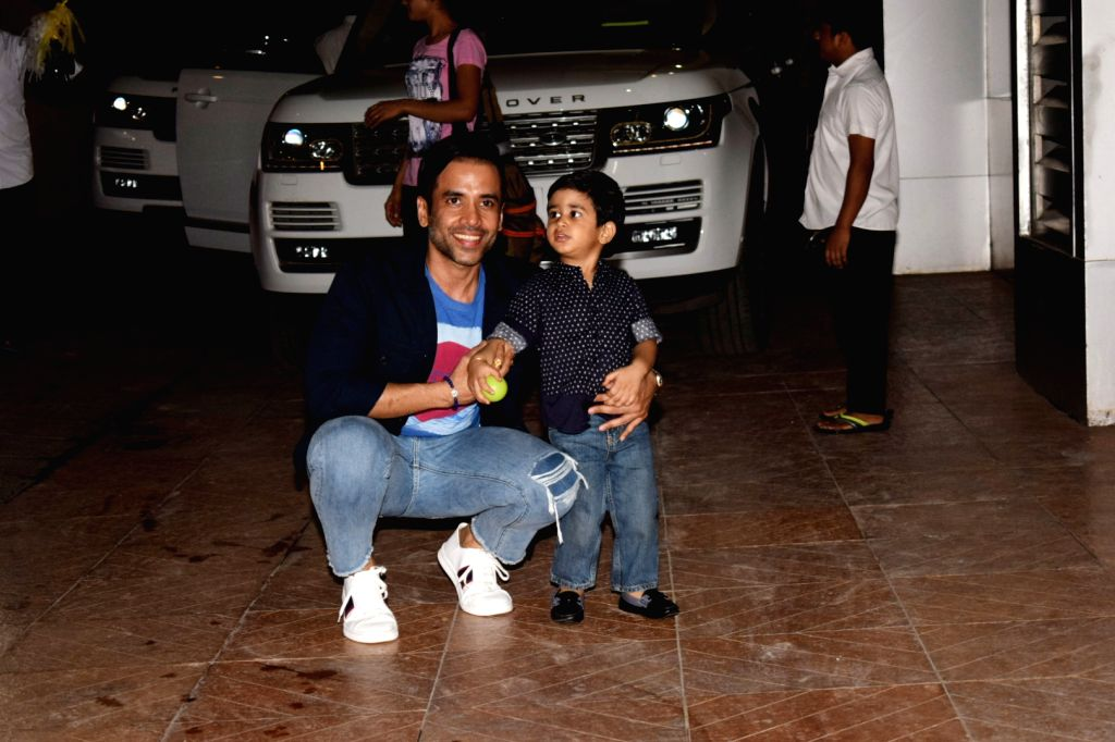 Actor Tusshar Kapoor celebrates his son Laksshya birthday at his home Krishna Mumbai on June 1, 2018. - Tusshar Kapoor