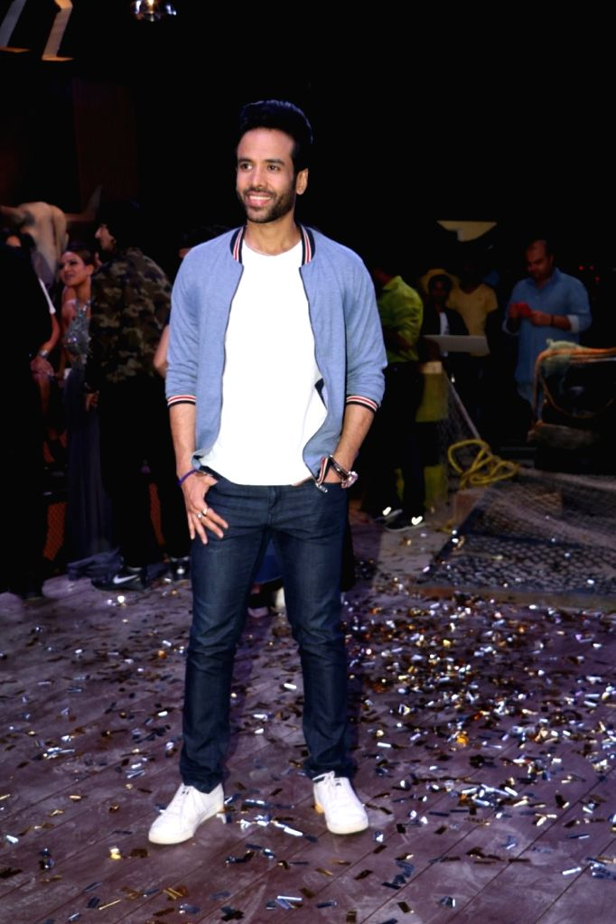"Actor Tusshar Kapoor during the promotion of his upcoming film ""Golmaal Again"" on the sets of Khatron Ke Khiladi in Mumbai on Sept 19, 2017. - Tusshar Kapoor"