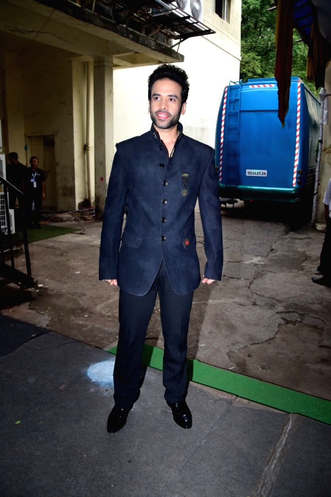 "Actor Tusshar Kapoor during the promotion of his upcoming film ""Golmaal Again"" on the sets of television show ""The Drama Company"" in Mumbai on Oct 9, 2017. - Tusshar Kapoor"