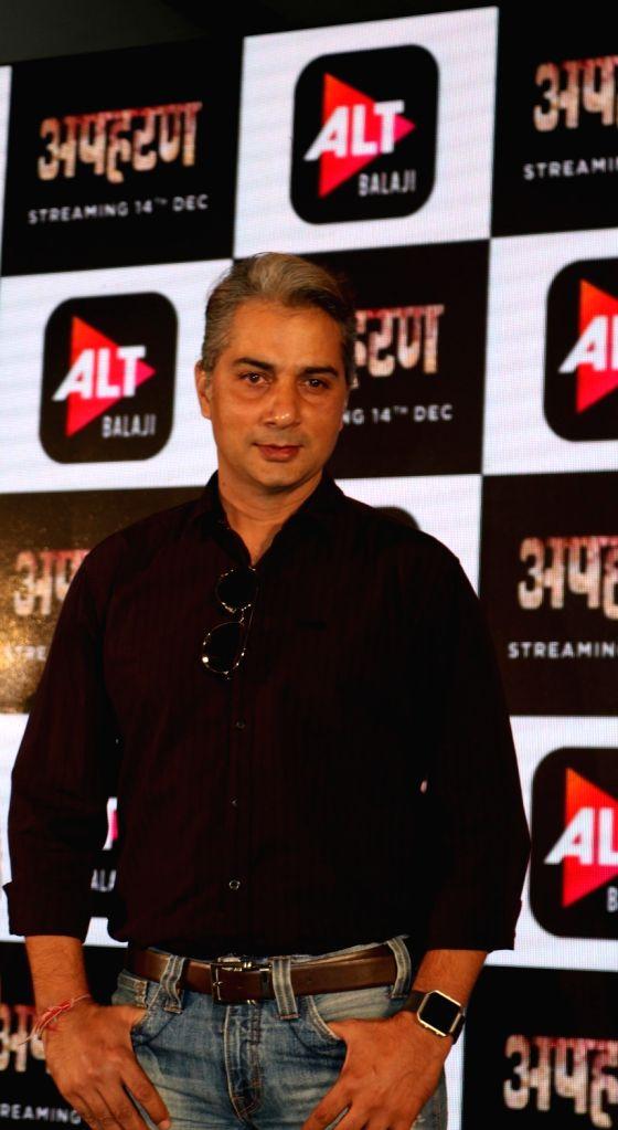 "Actor Varun Badola at the launch of his web series ""Apharan"" in New Delhi, on Dec 6, 2018. - Varun Badola"